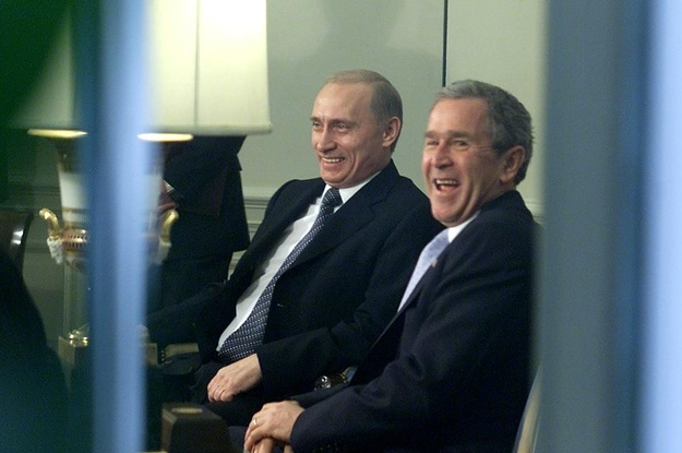 The 25 Biggest Bromance Moments Between George W. Bush And Vladimir Putin