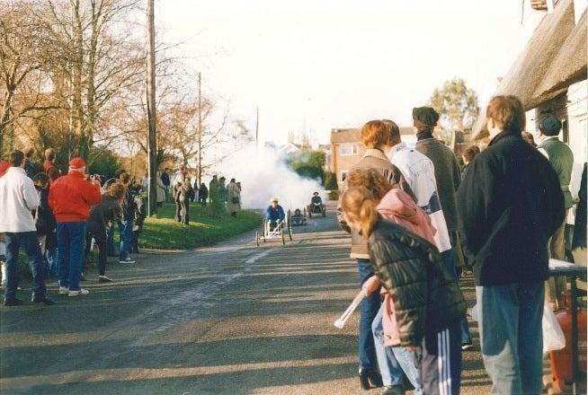 Hail Weston Go-Kart Races. New Year's Day 1996. June Hamilton.