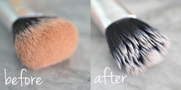 Se você tiver mais ou menos meia hora: limpe seus pincéis de maquiagem.