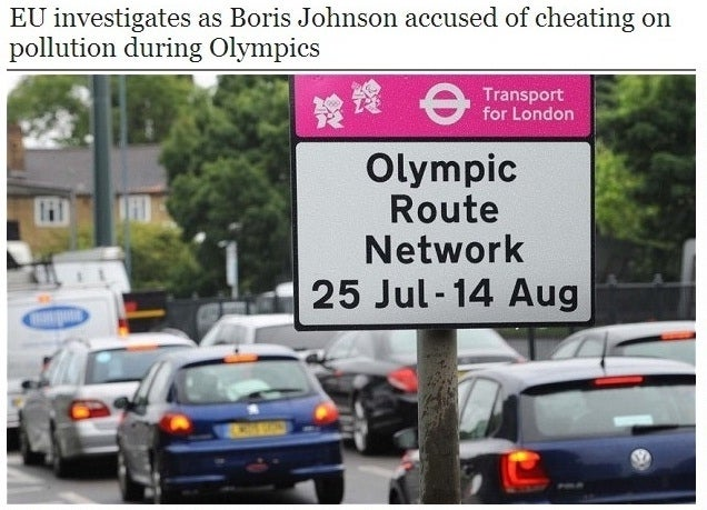 Under more intense scrutiny during the Olympics, Boris stepped-up his efforts - but only at the locations where pollution was being monitored.