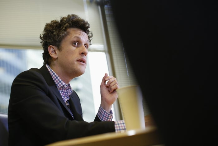 Aaron Levie, co-founder and chief executive of Box, speaks during Reuters Global Technology Summit in San Francisco, June 19, 2013.