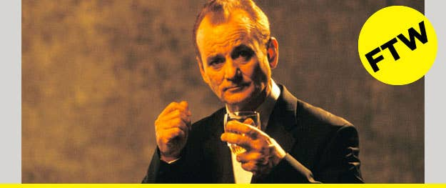 Grab a garbage bag and some ice, and Bill Murray will teach you how to consume colossal amounts of champagne without crashing. - [UPROXX]