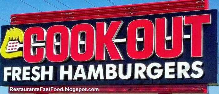 Sure the South may be wrong about a lot of things, but it's always been right about food. You can only find Cook-Outs in Georgia, Kentucky, North Carolina, South Carolina, Tennessee, and Virginia.
