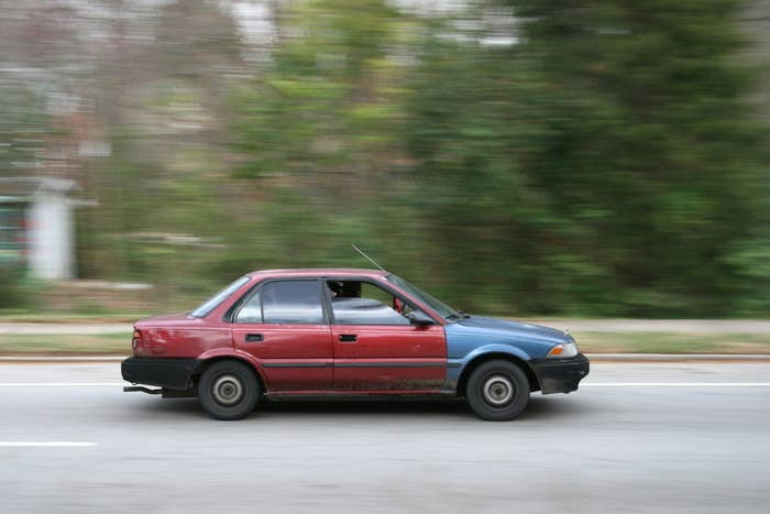 "A ""Fast Car"" is derogatory term for the person in a group of friends who is the only one with a car but who also lives in inescapable poverty. I presume this term comes from the 1988 hit ""Fast Car"" by Tracy Chapman.Proper Usage:Dan: ""I need to pick up beer for tonight's party but I really don't want to walk to the store.""Steve: ""Call Adrien. I mean, he is our Fast Car after all.""Dan: ""Good point. I hope he doesn't bring up the fact that he can't pay for beer because he lives way below the poverty line. It's really a downer.""Steve: ""Same. You're seriously my best friend though, Dan."""