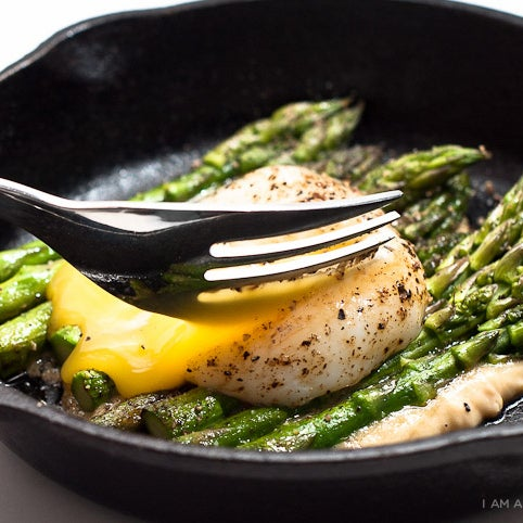 Asparagus with Egg & Miso Butter