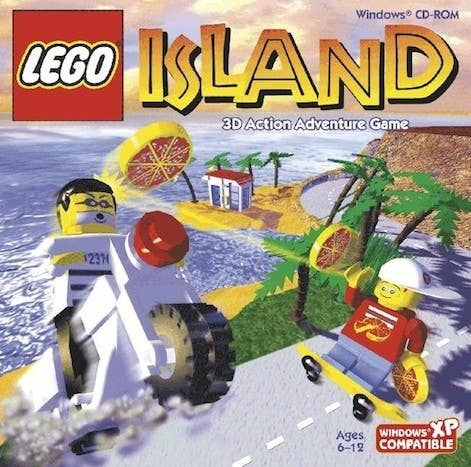Zoombinis may be famous for its big pizza scene, but the plot of Lego Island revolves ENTIRELY around pizza. You play as Pepper Roni - a great skateboarder, super cool kid, and the island's delivery boy. And The Pizzeria is literally the only place to eat on the island. So that's a big job. When he delivers to the jail cell of The Brickster, the criminal breaks out (using the HEAT FROM THE PIZZA. What?) and it's up to Pepper to catch him. By the end, you're chasing The Brickster on his motorcycle, firing pizzas from a helicopter. And once Pepper catches him, what does he do?