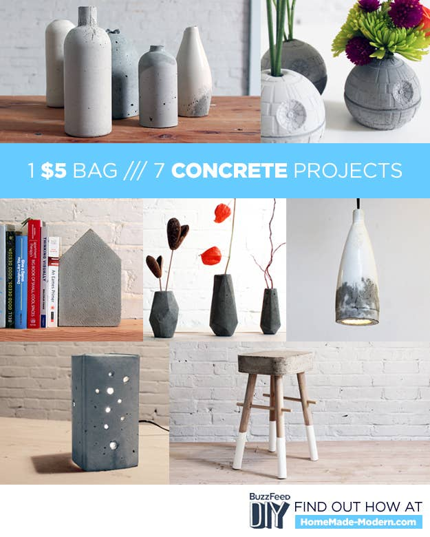 7 Diy Concrete Projects You Can Make With One 5 Bag Of Concrete Mix