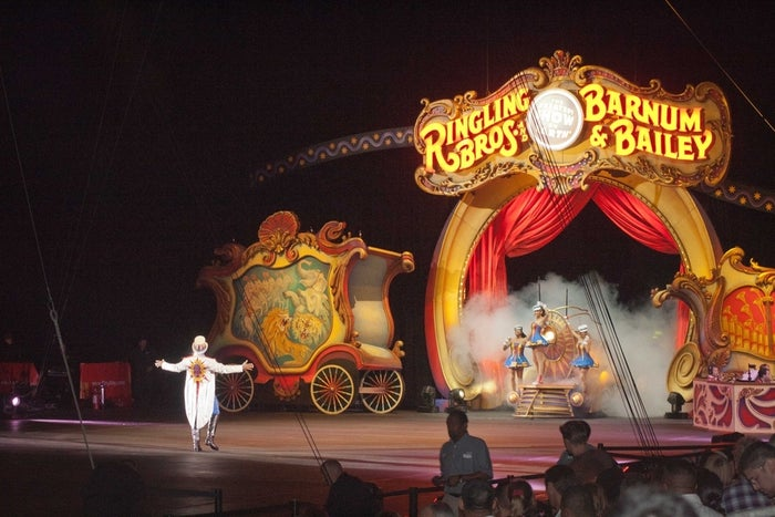 Ringling Bros. and Barnum & Bailey have a program called Baby's First Circus, which gives babies less than one year old a ticket voucher that can be exchanged for a free ticket to any performance, anytime, anywhere!