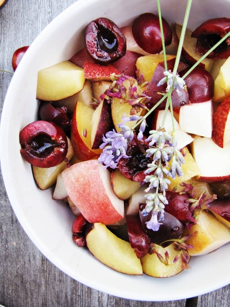 Lavender Fruit Salad | Homemade Mother's Day Brunches | mother's day