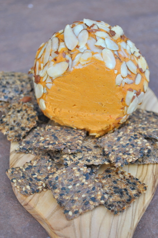 Almond-Covered Cheddar Cheese Ball