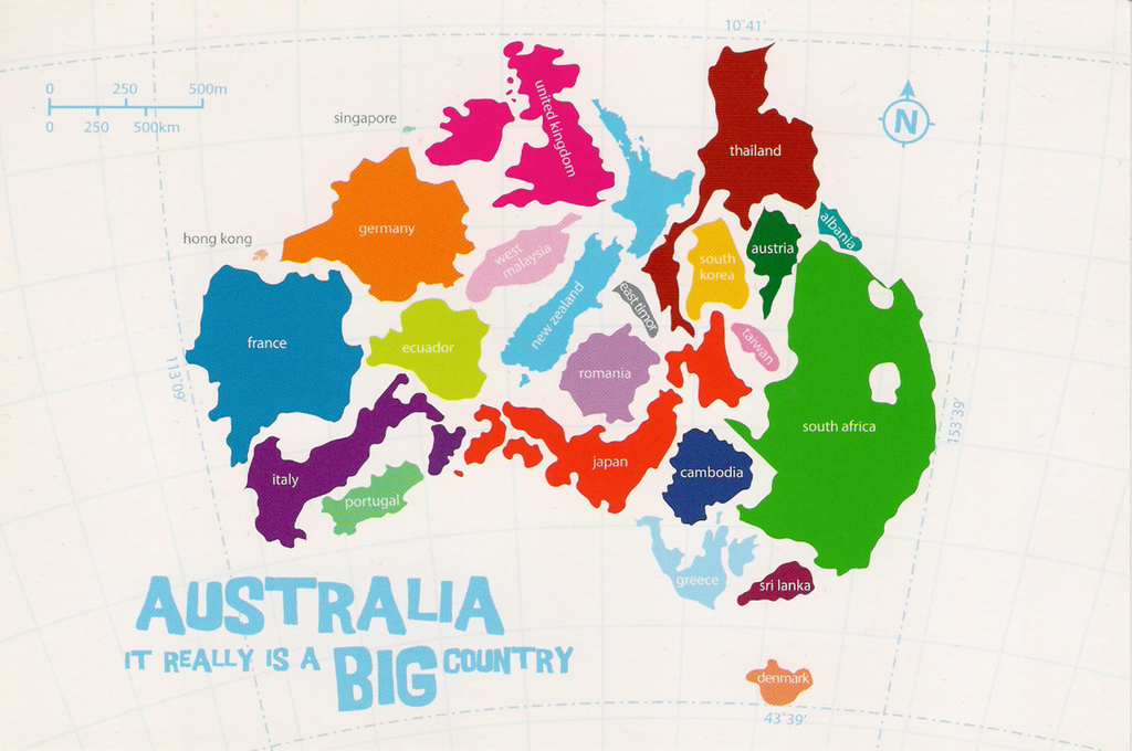 17 Maps Of Australia That Will Make Your Mind Boggle – Big Map of Australia