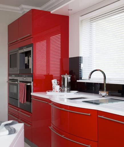 This is a great opportunity to theme your kitchen. Use colour, decals, stencils… You can have so much fun!