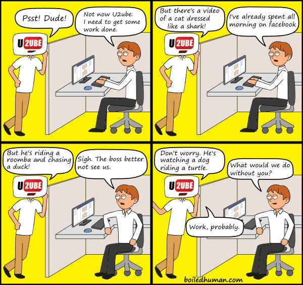 A workplace comic from Boiled Human.