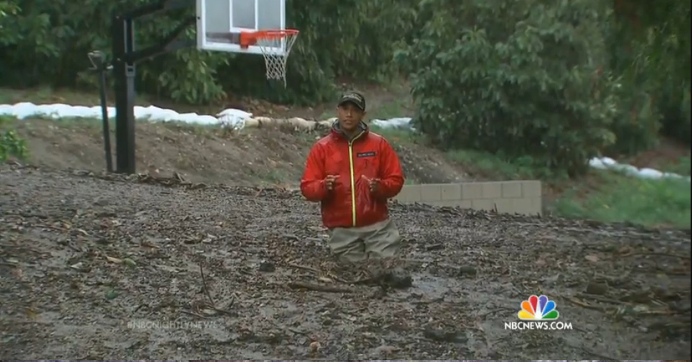 NBC News Reporter Rescued From Waist-High Mud During California Storm Coverage