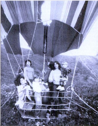 In 1979, eight people soared over the Berlin Wall in a home-made hot air balloon created with small pieces of nylon cloth. To avoid looking suspicious, the families of Hans Strelczyk and Gunter Wetzel secretly collected small amounts of cloth over a long period of time. After their escape, the East German government began to strictly control the purchases of light-weight cloth.