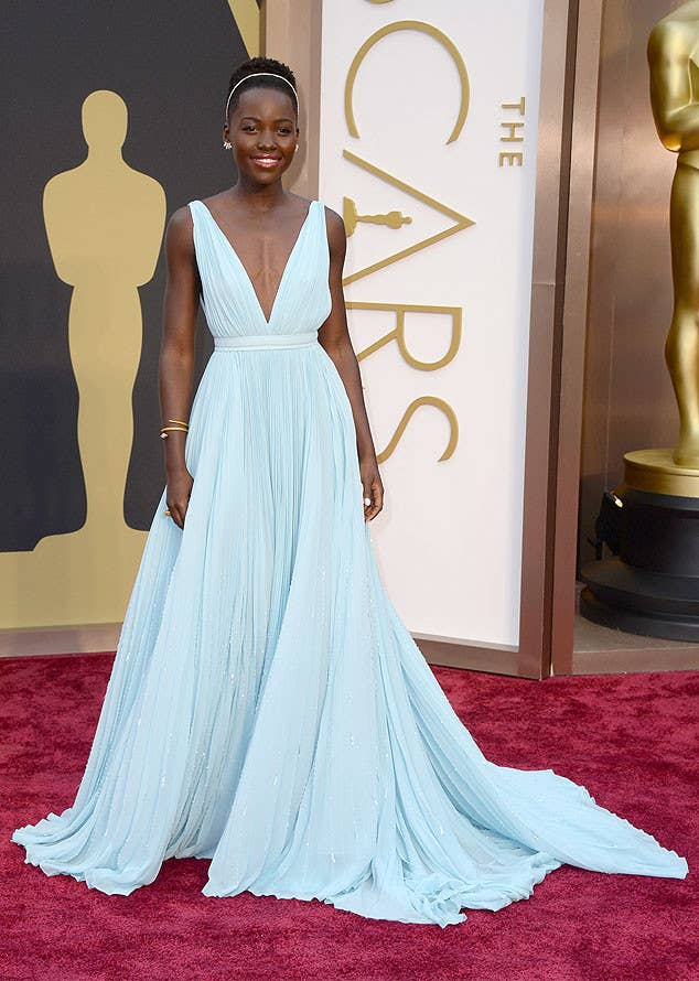 """When the brilliant Nyong'o won Best Actress in a Supporting Role for her portrayal of Patsey in 12 Years a Slave, she eloquently brought to life the spirit of the film and the history which inspired it. """"It doesn't escape me for one moment that so much joy in my life is thanks to so much pain in someone else's."""" -Lupita Nyong'o"""