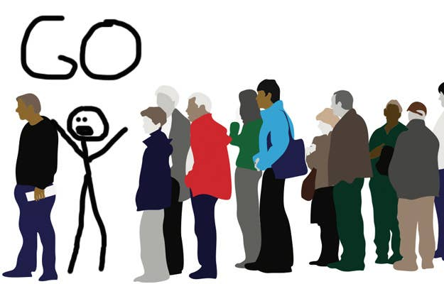 the 11 types of people you find waiting in line