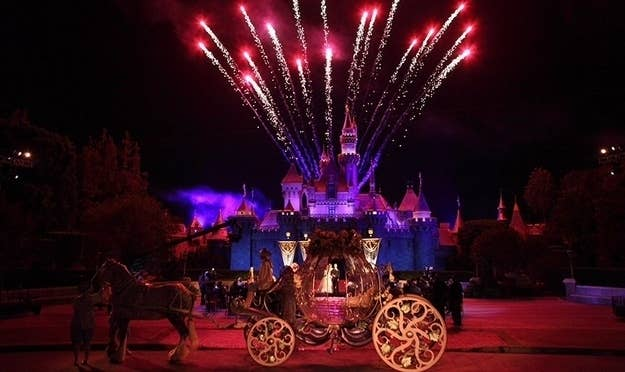 """In Disneyland in California you can say """"I do"""" with Sleeping Beauty's castle with fireworks behind you. It is truly a breathtaking scene you can share intimately with you and your guests after the park has closed!"""