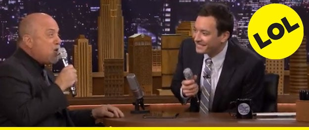 """Watch Billy Joel and Jimmy Fallon use an app to create an epic rendition of """"The Lion Sleeps Tonight""""! - [Variety]"""
