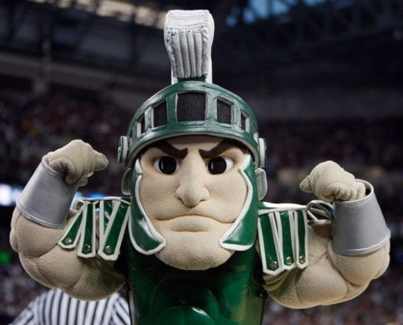 Ugh, Spartans. How fucking original, amirite? Look at him; definitely on steroids - those triceps are just un.fucking.believable.
