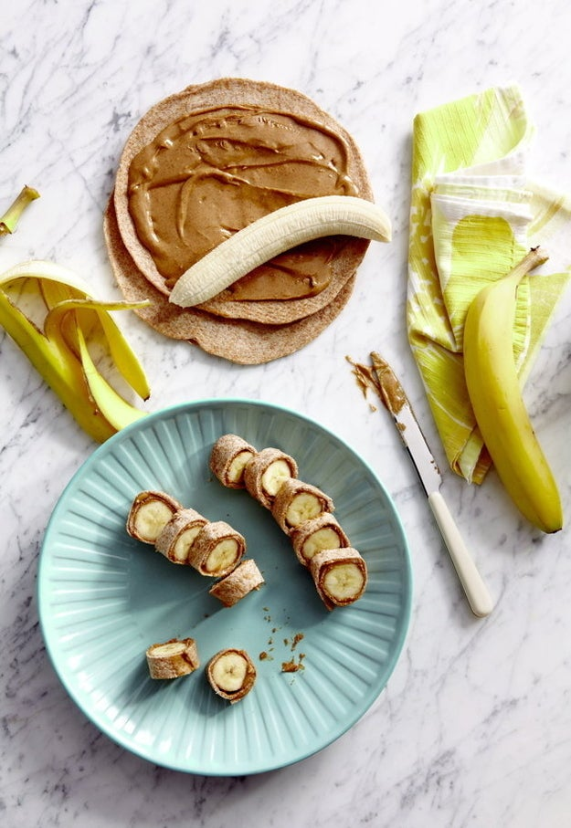 Here's a reason to get excited about a classic-old combo: bananas — a darling energy-boosting carbohydrate — wrapped in wheat tortillas and peanut butter. Recipe here.