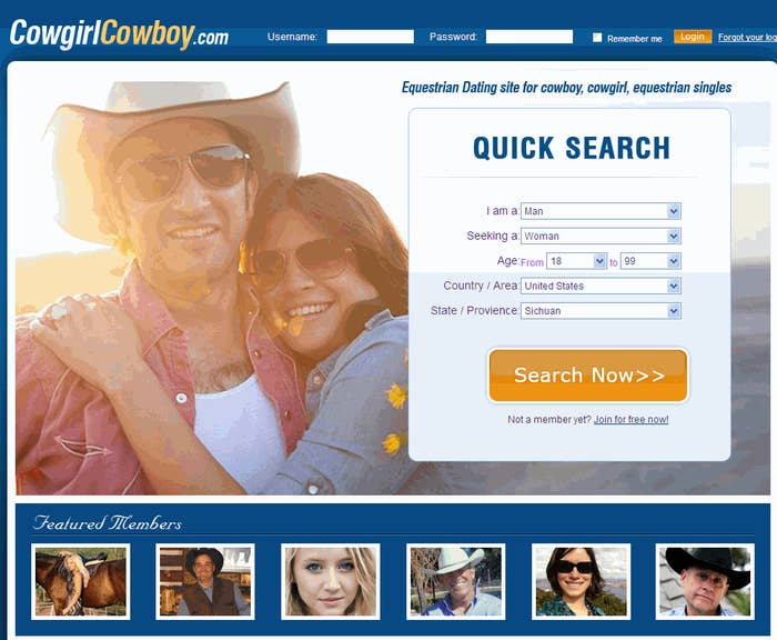 Cowboys ja cowgirls dating site.
