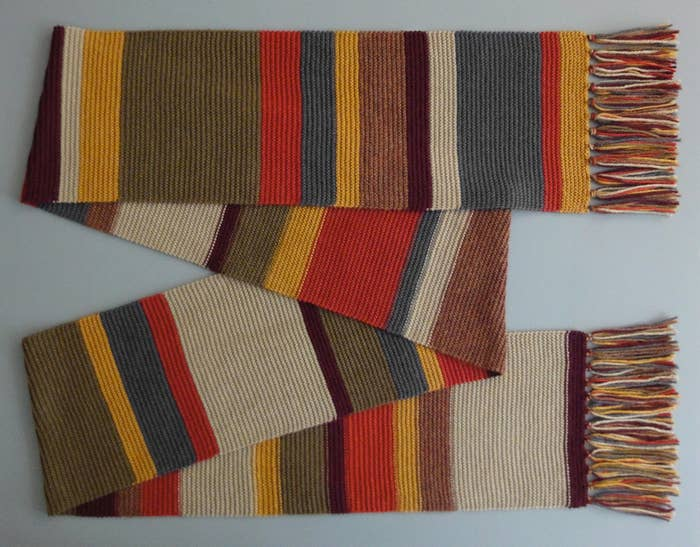 Any self respecting Whovian will know the 4th Doctor's scarf is the ultimate knitting project. Sure it's going to be tedious to knit all 14 feet, but what does that matter to a Timelord?Pattern Found Here.