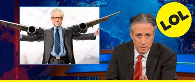 """The """"Bermuda Triangle,"""" """"black hole,"""" and """"same thing that happened on 'Lost'"""" theories—Jon Stewart takes a serious look at CNN's Malaysia Airlines coverage. - [Variety]"""