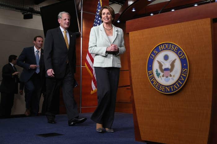 Minority Leader Nancy Pelosi and DCCC chairman Steve Israel