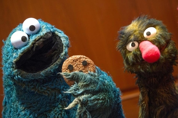 Those cookies the Cookie Monster eats on Sesame Street are actually rice cakes with brown dots painted on.