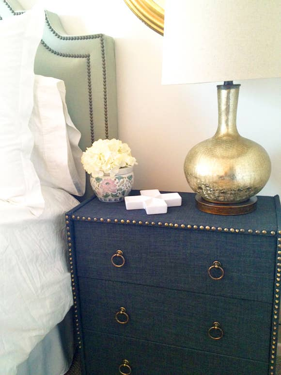 Outline The Dresser In Nailheads Diy Here