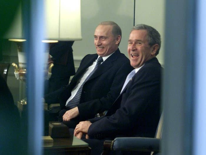"""Bush once called Putin """"one cold dude"""" in private, but was determined to win over the Russian president. As his presidency went on, Bush got frustrated by the whole thing and it came to a crushing end. But before that, there was a lot of bromance."""