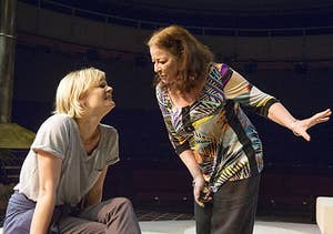 Martha Plimpton as Brooke, Clare Higgins as Silda in Other Desert Cities.