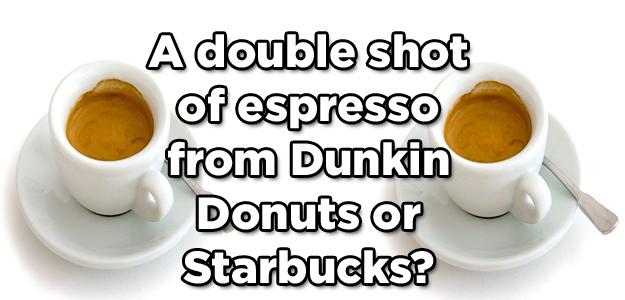 dunkin donuts caffeine