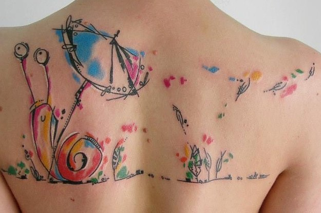 Super 28 Incredible Watercolor Tattoos And Where To Get Them &YR69
