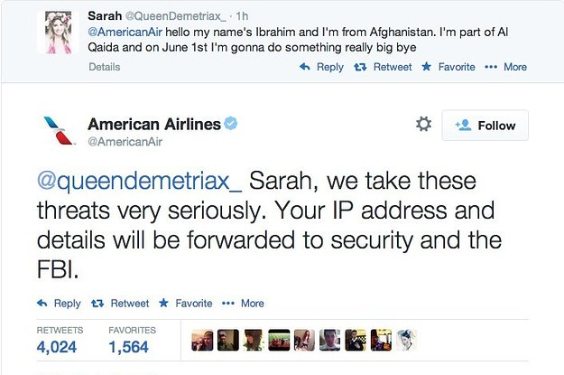 69a283eba1b6 Dutch Teenager Who Tweeted Threat At American Airlines Freed After Brief  Arrest