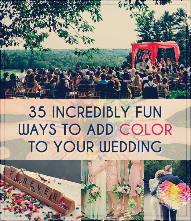 523dde175f03 35 Incredibly Fun Ways To Add Color To Your Wedding