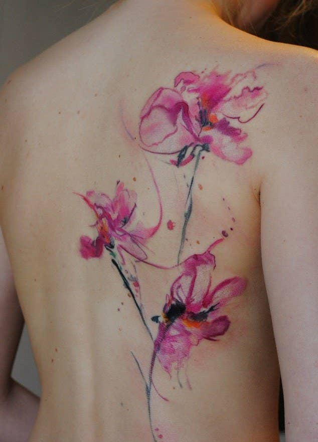 f8249caa72f8e 28 Incredible Watercolor Tattoos And Where To Get Them