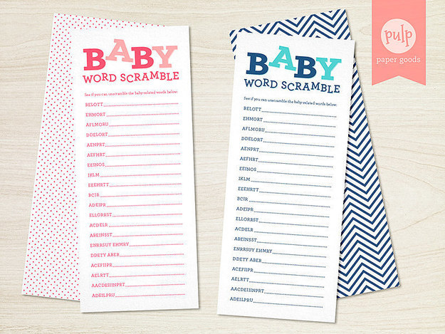 30 juegos de baby shower que son realmente divertidos