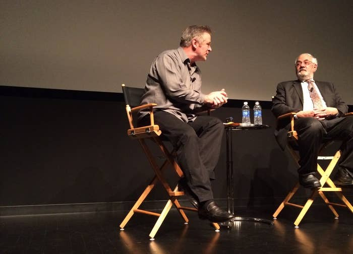 Alec Baldwin (left) and Barney Frank (right) at the world premiere of Compared to What April 27 in New York City.