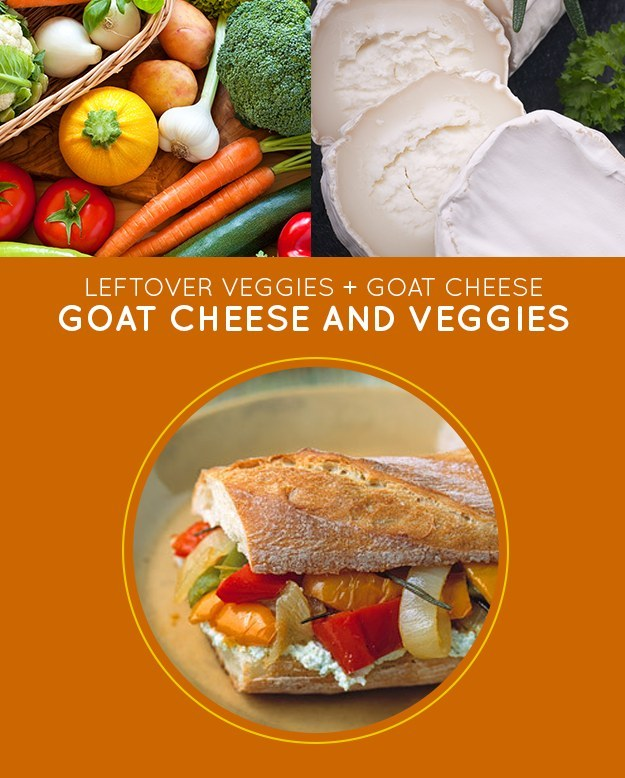 Goat Cheese and Roasted Vegetables Sandwich