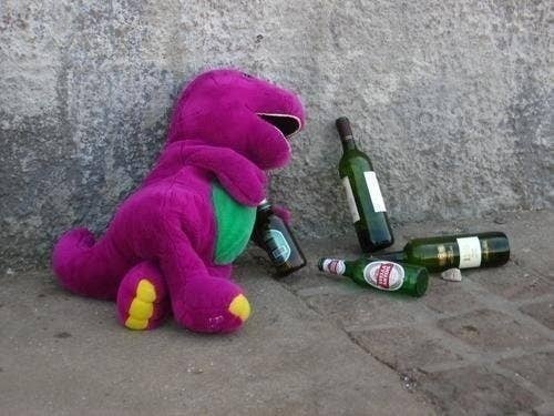 A side of the purple dinosaur you haven't seen...