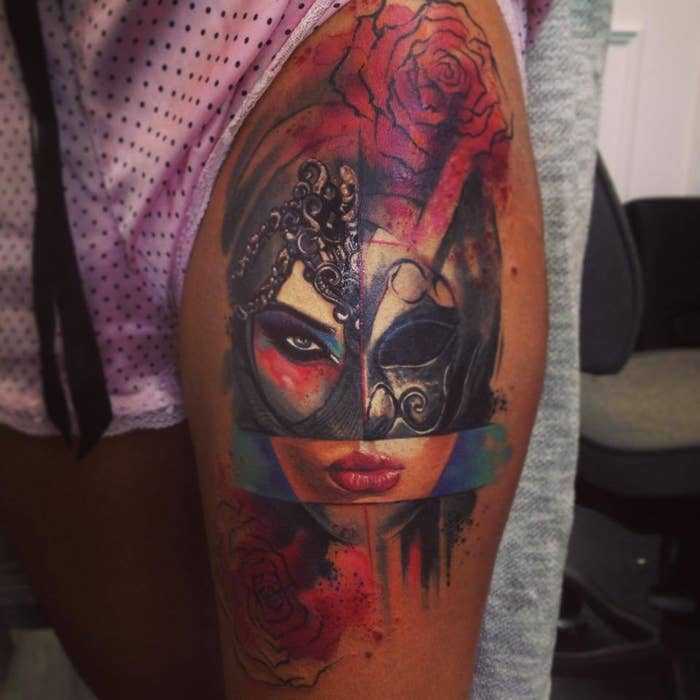332bb114762f9 28 Incredible Watercolor Tattoos And Where To Get Them