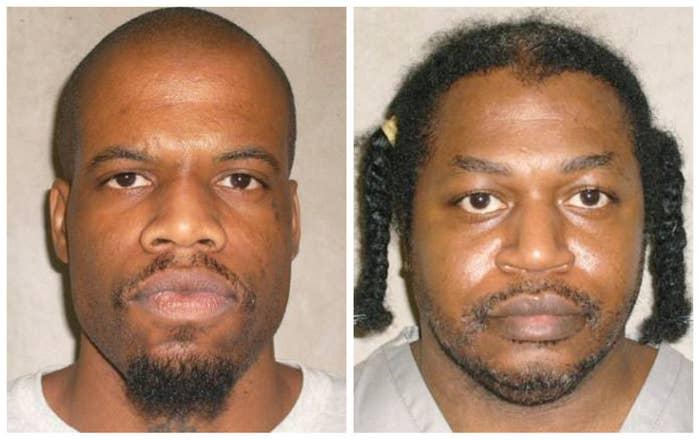 Oklahoma death row inmates Clayton Lockett (left) and Charles Warner.