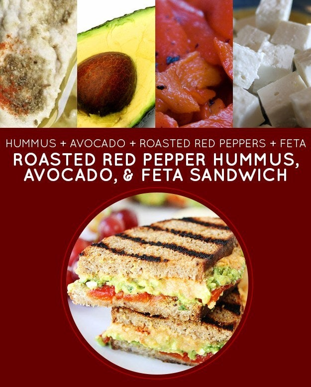 The key to this easy sandwich recipe: Jarred or canned roasted red peppers.