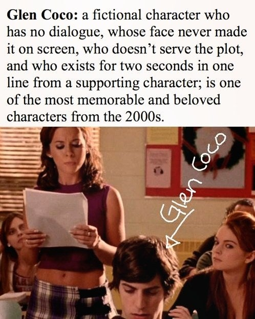 """Glen Coco played by Tina Fey's good friend, David Reale proved that there are """"no small parts only small actors."""""""