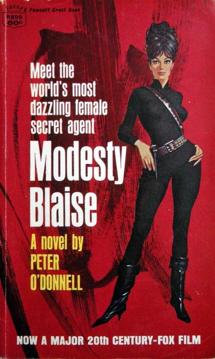 The eponymous heroine of the Modesty Blaise comic strip, Modesty is a self-made woman: beginning as a child refugee, she took control of a gang in Tangiers and built it into an international crime syndicate, before retiring to enjoy a life of leisure. To stave off the boredom of luxury, she periodically does work for the British Secret Service, carrying out her objectives with the skill and ingenuity of a criminal mastermind.