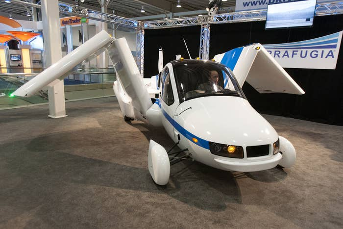 The Terrafugia claims to be the first flying car of the 21st century. OMG.