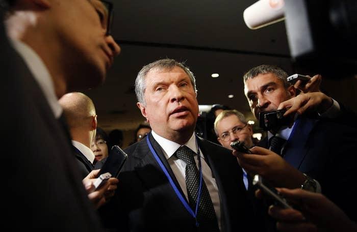 Rosneft Chief Executive Officer Igor Sechin.