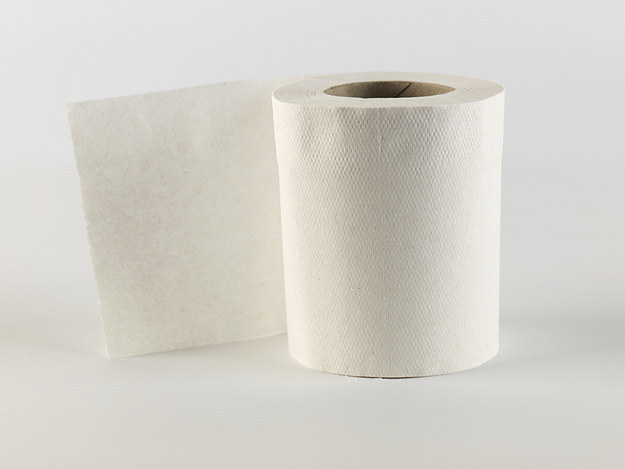 Use toilet paper to make seed tape.